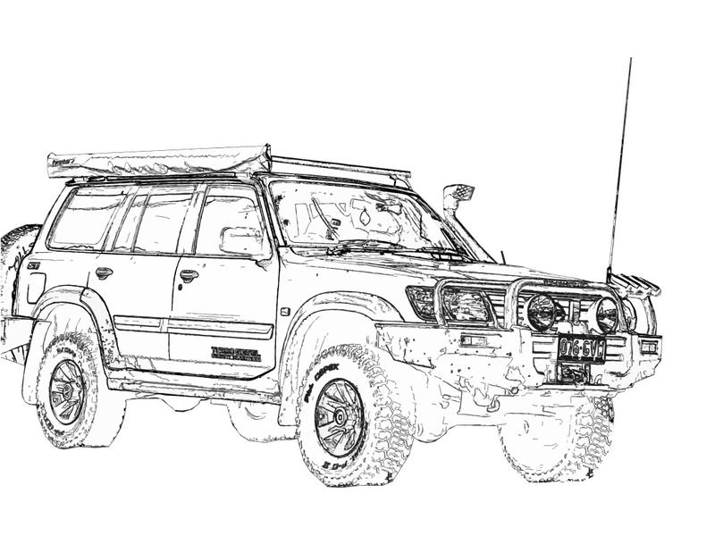 4wd drawing